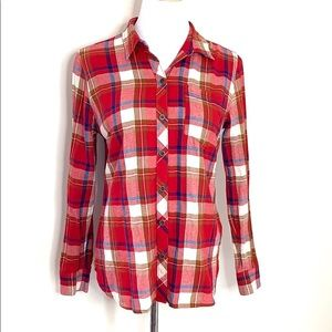 Lucky Brand Red Flannel Shirt